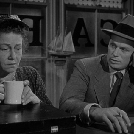 Thelma Ritter and Richard Widmark in Samuel Fuller's 'Pickup on South Street'