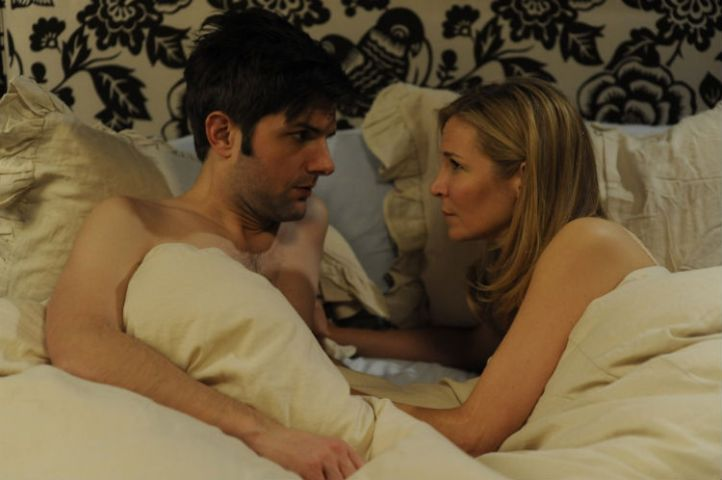 Adam Scott and Jennifer Westfeldt in 'Friends With Kids' (Lionsgate / Roadside Attractions)
