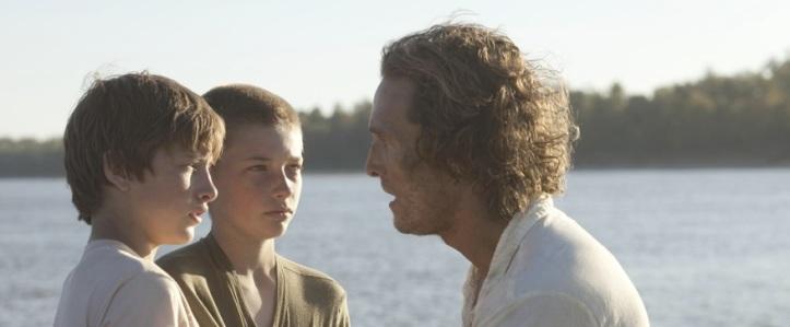 Matthew McConaughey, Tye Sheridan, and Jacob Lofland in Jeff Nichols' 'Mud'