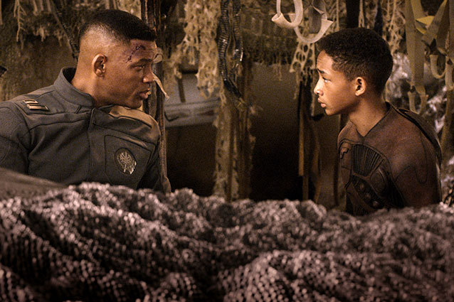 Will Smith and Jaden Smith in M. NIght Shyamalan's 'After Earth'