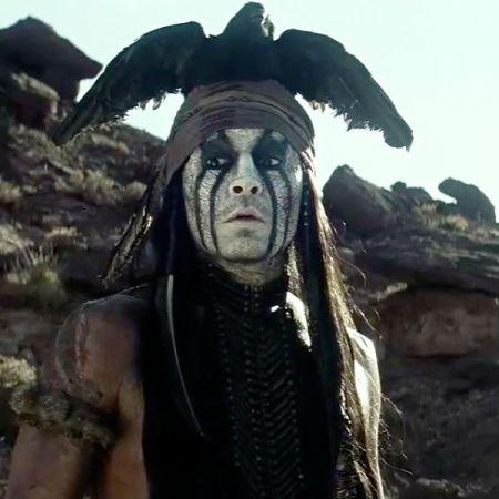 Johnny Depp as Tonto in 'The Lone Ranger' (Disney)