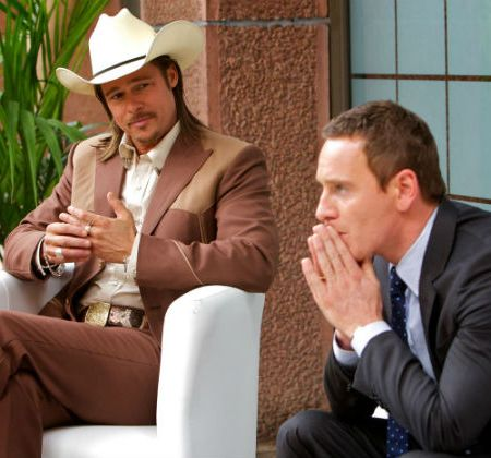 Michael Fassbender and Brad Pitt in Ridley Scott's 'The Counselor'
